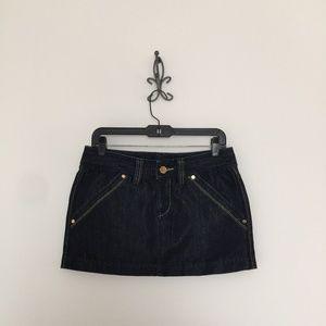 Express Denim Low Rise Mini Skirt Size 4